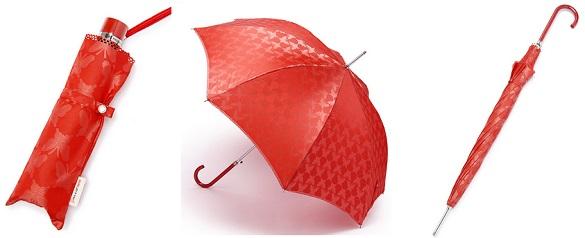 ポールアンドジョーシスターの蝶柄ジャガード傘