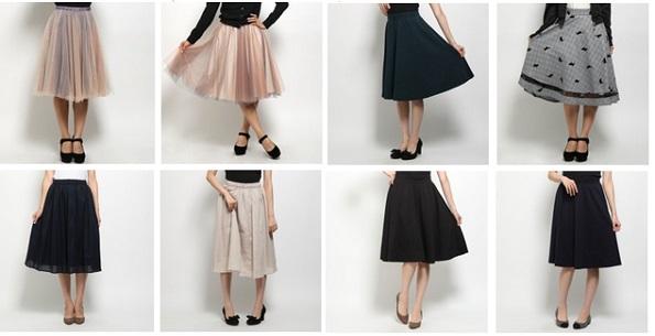 30代女に人気にのミモレ丈スカート